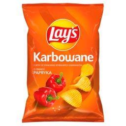 Chipsy ziemniaczane karbowane o smaku papryka