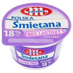 Śmietana Polska bez laktozy 18%
