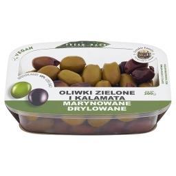 Oliwki zielone i Kalamata marynowane drylowane