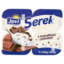 Serek z kawałkami czekolady 560 g (4 sztuki)