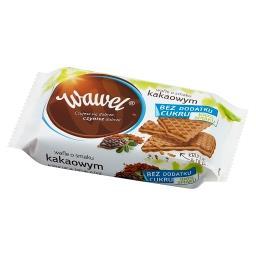 Wafle o smaku kakaowym bez dodatku cukru