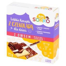 Kids Lekkkie kanapki z owsem w mlecznej czekoladzie