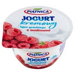 Jogurt kremowy typu greckiego z malinami