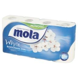 White Papier toaletowy bawełniana biel 8 rolek
