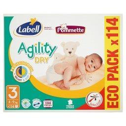 Agility Dry Pieluszki dla dzieci rozmiar 3 4-9 kg