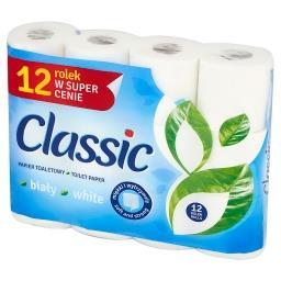 Papier toaletowy biały 12 rolek