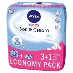 Baby Soft & Cream Chusteczki 4 x 63 sztuki