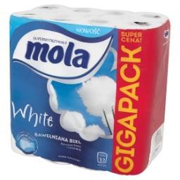 White Bawełniana Biel Papier toaletowy 32 rolki