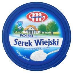 Polski Wiejski serek twarogowy ziarnisty ze śmietank...