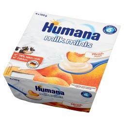 Milk Minis Deserek jogurtowy o smaku brzoskwiniowym po 6. miesiącu 400 g
