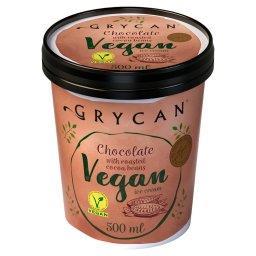 Vegan Lody czekoladowe z prażonym ziarnem kakaowca