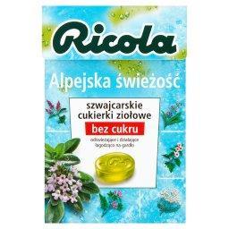 Alpejska świeżość szwajcarskie cukierki ziołowe