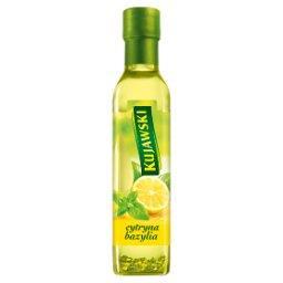 Olej rzepakowy z pierwszego tłoczenia z cytryną i bazylią