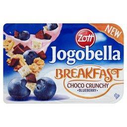 Jogobella Breakfast Jogurt jagodowy z chrupiącym musli z czekoladą
