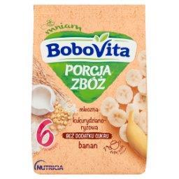 Porcja Zbóż Kaszka mleczna kukurydziano-ryżowa banan po 6 miesiącu