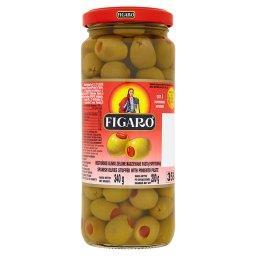 Hiszpańskie oliwki zielone nadziewane pastą paprykow...