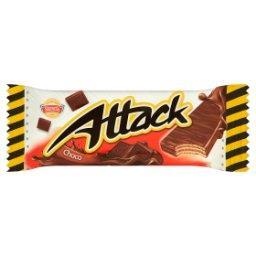 Attack Wafle przekładane nadzieniem o smaku kakaowo-...