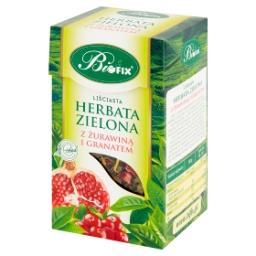 Herbata zielona liściasta z żurawiną i granatem