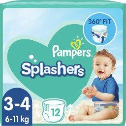 Splashers, Rozmiar 3-4, 12 Jednorazowych Pieluch Do Pływania