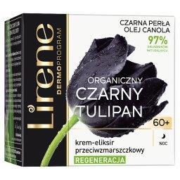 Organiczny czarny tulipan 60+ Krem-eliksir przeciwzm...