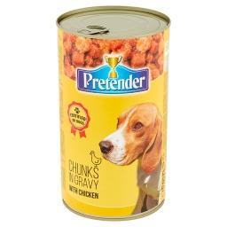 Karma dla psów kawałki mięsne z drobiem w sosie
