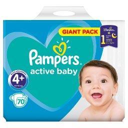 Active Baby Rozmiar 4+, 70 pieluszek, 10-15 kg