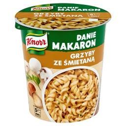 Danie Makaron Grzyby ze śmietaną