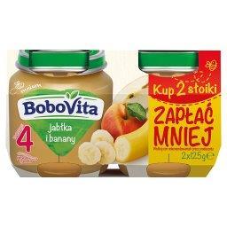 Jabłka i banany po 4 miesiącu 2 x