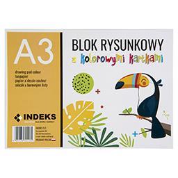 Blok rysunkowy A3, 16 kartek, kolorowy