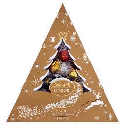 Lindor Assorted Pralinki z czekolady mlecznej białej i gorzkiej z nadzieniem