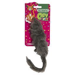 Mysz długowłosa/futro duża dla kota 15 cm mix wzorów