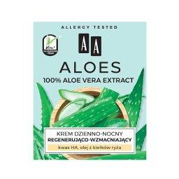 Aloes 100% aloe vera extract krem dzienno-nocny regenerująco-wzmacniający 50 ml