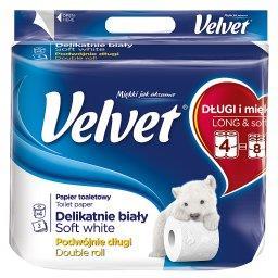 Delikatnie Biały Podwójnie Długi Papier toaletowy 4 ...