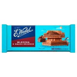 Czekolada mleczna o smaku deseru brownie