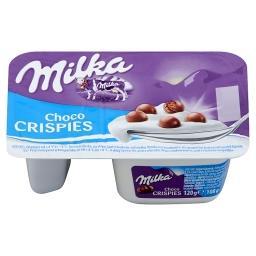 Jogurt z kulkami zbożowymi w czekoladzie mlecznej