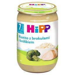 Risotto z brokułami i królikiem po 7. miesiącu