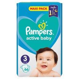 Active Baby Rozmiar 3, 66 pieluszek, 6-10 kg