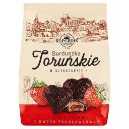 Serduszka Toruńskie w czekoladzie z nadzieniem o sma...