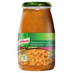 Sos śmietanowo-paprykowy z cebulą i natką pietruszki