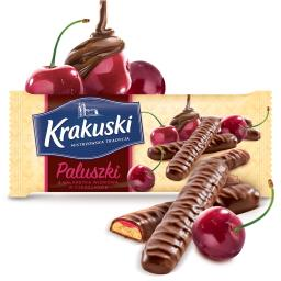 Paluszki z galaretką wiśniową w czekoladzie
