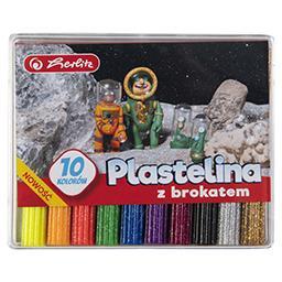 Plastelina brokatowa 10 kolorów