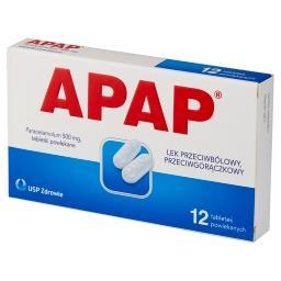 Lek przeciwbólowy przeciwgorączkowy 12 sztuk