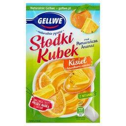 Słodki Kubek Kisiel z kawałkami owoców smak pomarańc...