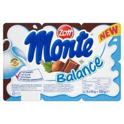 Monte Balance Deser mleczny 330 g (6 sztuk)