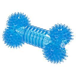 Zabawka z przezroczystej gumy kość z kolcami 12cm