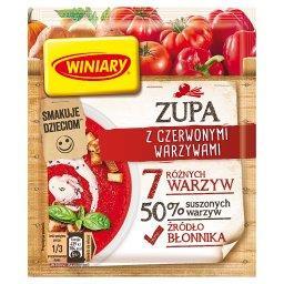 Zupa z czerwonymi warzywami