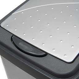 Pojemnik na śmieci Slim-Bin 10 l srebrny 29,5 x 17,5...