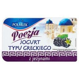 Jogurt typu greckiego z jeżynami