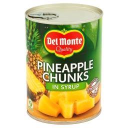Kawałki ananasa w syropie