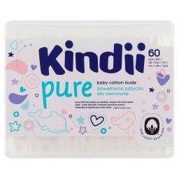 Pure Bawełniane patyczki dla niemowląt 60 sztuk